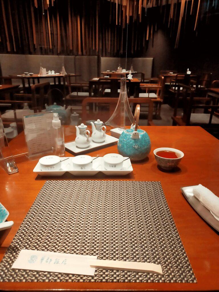 華都飯店-テーブル